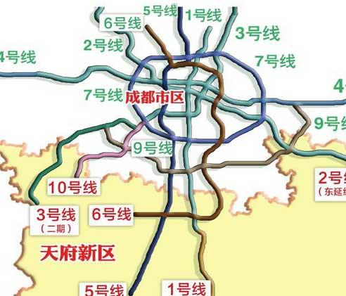 成都地铁3号线一期工程由东北向西南贯穿城市cbd核心区,起于太平园,经